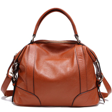 2 Size 6 Colors Dumpling Bag Genuine Leather Shoulder Bag Women Full Grain Leather Handbag Totes Large Capacity Bucket Skull Bag(China)