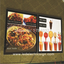outdoor sign frames for backlit menu boards with mount frame aluminum profile board(China)