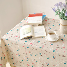 New arrival Eiffel Tower linen tablecloths cotton and linen table cloth multi-fuctional table cloth(China)