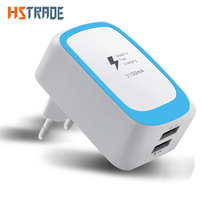 HSTRAOE Phone USB Charger 5V 2.1A Fast Charger EU Travel Charger USB Wall Mobile Phone Charger for iPhone Samsung iPad Tablet