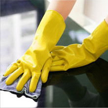10pcs/lot 1pc Dishwashing latex gloves Household waterproof laundry housework gloves Factory direct wholesale(China)