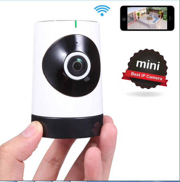 Mini Wireless Camera, 185 Degree HD WiFi Video Monitoring Surveillance Camera with Night Vision, Two Way Audio Baby Monitor<br>