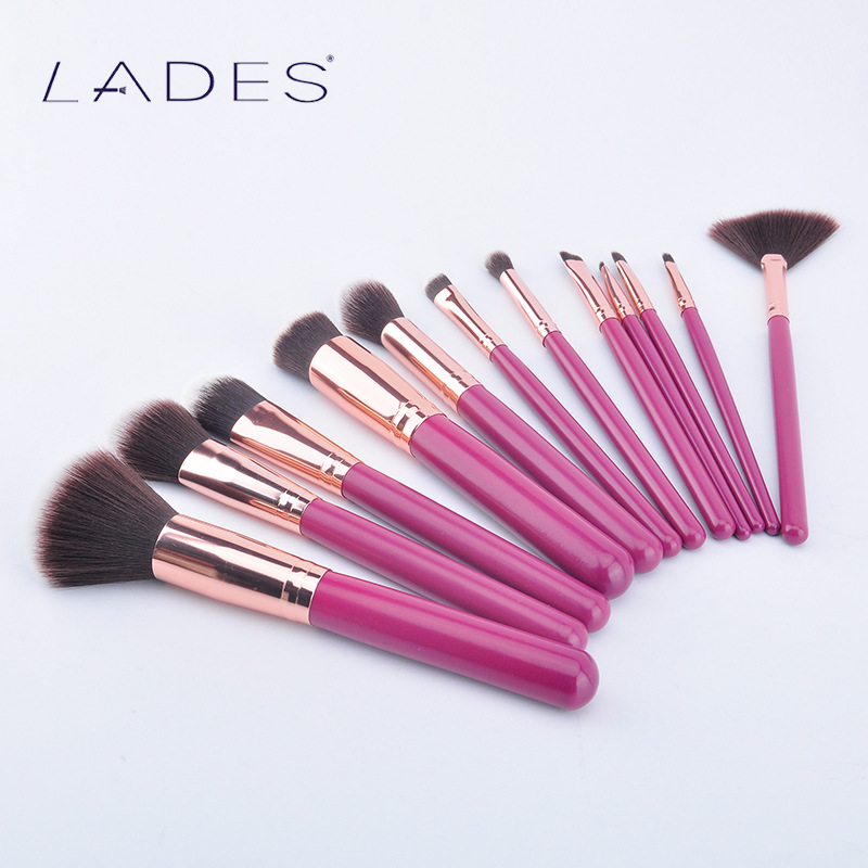 LADES Fragrance Cosmetic Brush Set 12 Red Makeup Brush Makeup Tools<br>