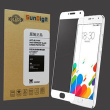 SunDigit Full Cover Tempered Glass For Meizu Max M3E M3 Note 3 M3 mini Pro 5 Metal Screen Protector Printing Protective Film