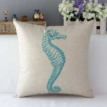 Creative Ocean Marine Life Throw Pillow Case Cover Soft Cotton Linen Pillowcases Home Office Decorative 43x43cm