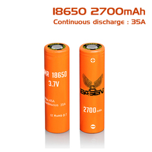 BS186S new package 2700mAh 18650 rechargeable lithium 35A Max 45A battery 3.7V power basenbattery Li-Ion E-cigarette - BasenPower Store store