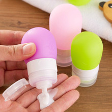 1PC Women Silicone Packing Refillable Bottle Press Bottle For Lotion Shampoo Shower Gel Container 38/60ml(China)
