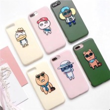 Korea Super Cute Cartoon Kakao Friends Apeach Ryan NEO TUBE JAY-G FRODO IMD Patch TPU Case Cover For Iphone6 6S 6Plus 7 7Plus