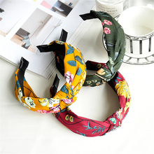 Simple fashion hair ornaments headdress South Korea simple patchwork fabric wide side hair Hoop Hairpin cardhair accessory(China)