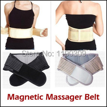 Free Shipping Magnetic Slimming Massager Belt Lower Back Support Waist Lumbar Brace Belt Strap Backache Pain Relief Health Care