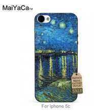 Black tpu silicone Van Gogh Starry Night Over the Rhone Colourful Style Design   Cell phone case For iPhone 5s 6s 6splus 7 7plus
