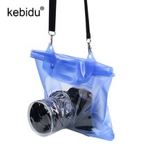 kebidu 20M Waterproof Camera case DSLR SLR digital Camera outdoor Underwater Housing Case Pouch Dry Bag For Canon for Nikon(China)