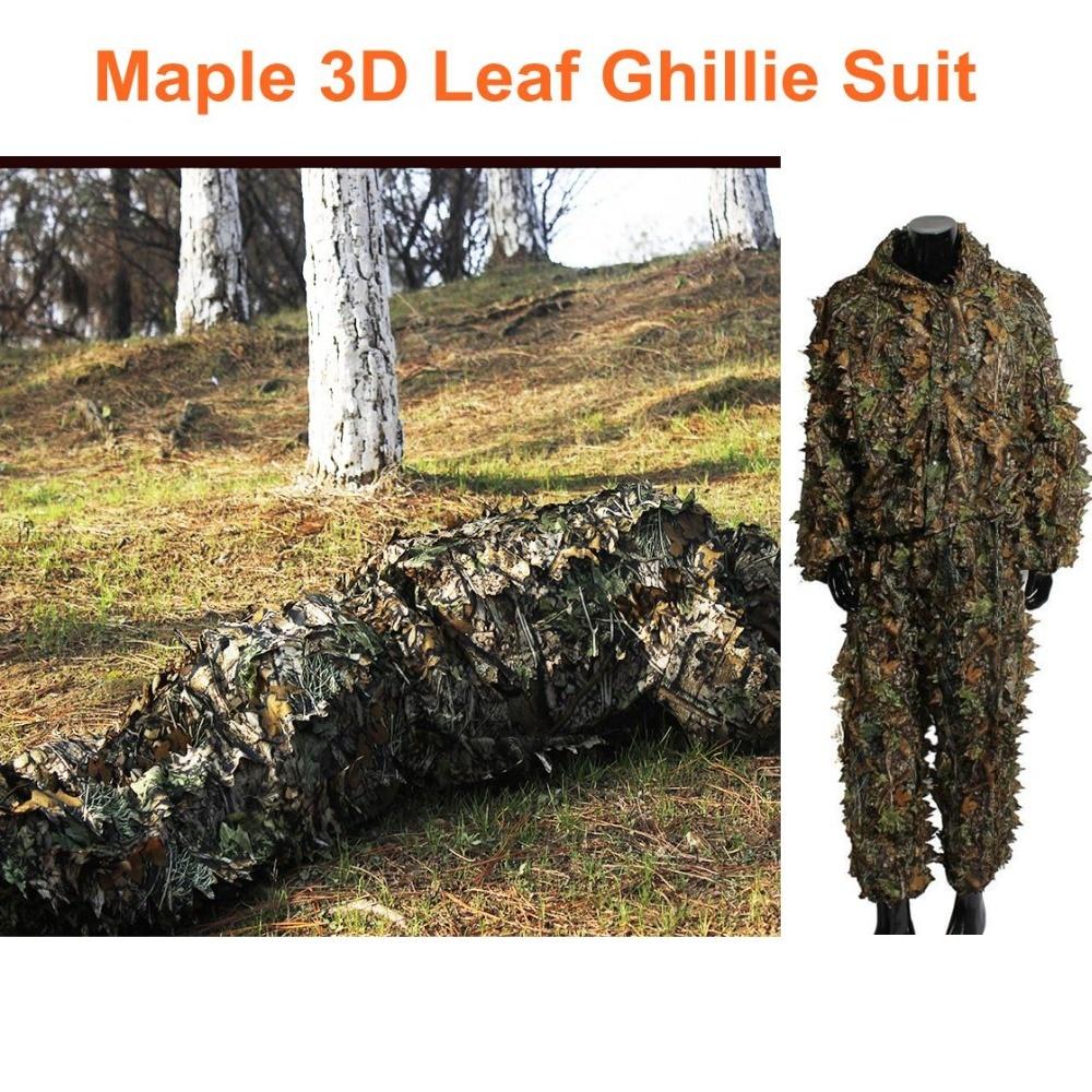 Waterproof Maple Leaf Camouflage Sniper Tactical Hunting Orange Ghillie Suit
