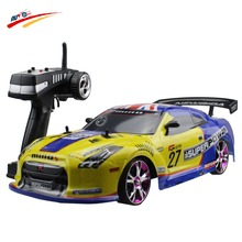 Large RC Car 1:10 High Speed Racing Car For Nissan GTR Championship 2.4G 4WD Radio Control Sport Drift Racing electronic toy(China)