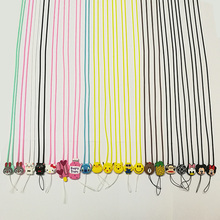 Universal TPU Rubber Cartoon Mickey Minnie Pineapple Bear Minion Cell Phone Lanyards Neck Strap