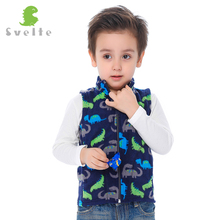 SVELTE 2017 Spring Fall Autumn Winter Children Boys Fleece Vest Kids Boys' Woolen Prints Waistcoat Vetement Enfant Gilet Veste(China)