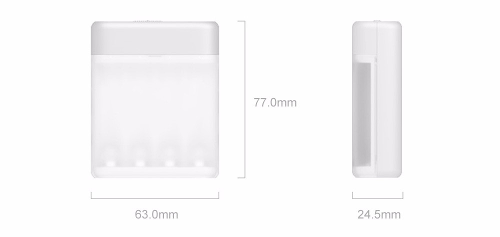 New Xiaomi ZMI ZI5 AAAAA Ni-MH Battery Charger with 4 Slots Portable Multifunction Charger for Smart Phone H20 #0 (8)