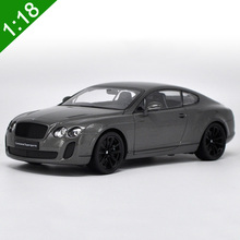 1:18 Scale Bentley Continental GT Diecast Car Model Toys For Kids Christmas Gifts Collection Original Box Free Shipping(China)