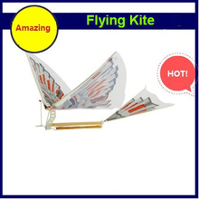 DIY Assembly Flapping Wing Flight Model Imitate Birds Aircraft Toys For Children Flying Kite Paper Airplane Christmas gift Free(China)