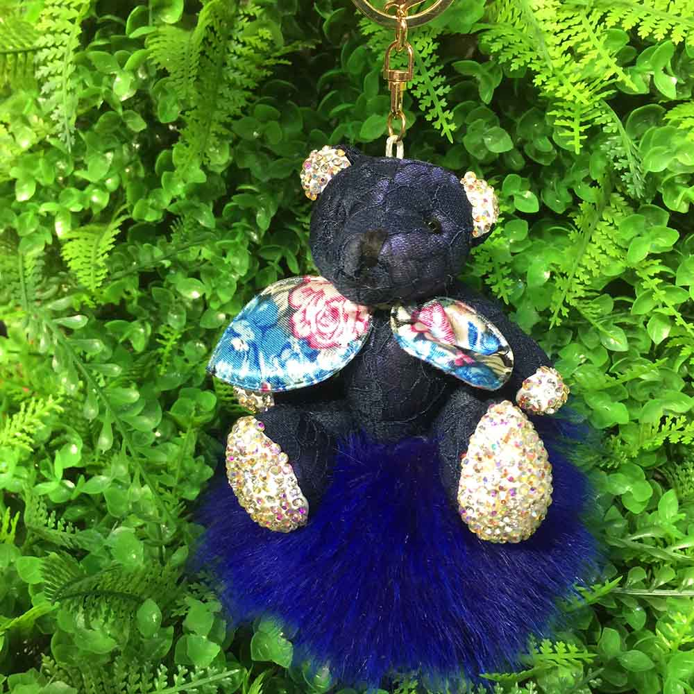 bear fox fur keychain 9 (3)