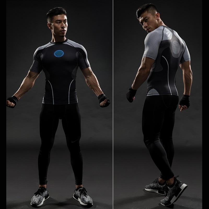 Short Sleeve 3D T Shirt Men T-Shirt Male Crossfit Tee Captain America Superman tshirt Men Fitness Compression Shirt Punisher MMA 12