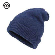 Stretchy Female knitted Cap Skullies Winter Stocking Hat For Men Women Flanging Wool Baggy Hedging Cap warm Beanies Ski Bonnet