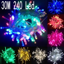 30m 240 led String Lights for Xmas Tree Holiday Wedding Party Decoration Halloween Showcase Restaurant or Bar and Home Garden(China)