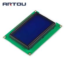 1PCS 12864 128x64 Dots Graphic Blue Color Backlight LCD Display Module(China)