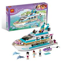 2017 New 79163 632Pcs Friends Dolphin Cruiser Model Building Kits Maya Blocks Bricks Girls Toys Compatible With Gift