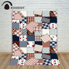 Christmas background for photography Stitching flowers Square dots village new born professional customize background pictures(China)