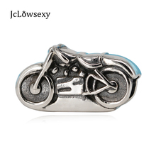 Original 925 Sterling Silver Antique Motorcycle DIY Bead Charms Fit Women Bracelets & Bangles Necklace Jewelry SS2458