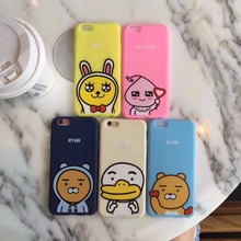 6 7 Stylish Hot Fashion Mobile Phone Cases for iphone 7 6 6s Plus Case cute 3d silicone  rubber gel frame Cover