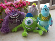 New Monsters Inc University Sulley/ Mike/ Art/Squishy Keychain Clip Plush Toy 4PCS Gift(China)