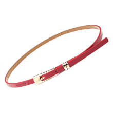 Cut Candy color belt Thin Leather Narrow Waistband Belt Women Skinny Waist Belt Lady Girl Decorative belt