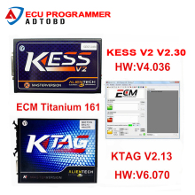 DHL Free Shipping Best Quality Ktag K-TAG Ecu Programming Tool KTAG V2.13 Master KESS V2 Unlimited Token With ECM TITANIUM V1.61