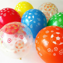 New playing football Balloons latex Printed ballon 50 12'' 2.8g round transparent and mixed color Birthday Party or Celebration