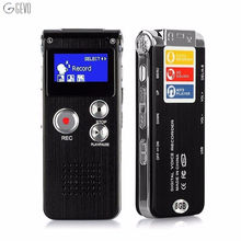 High quality Voice Recordering Pen LED Usb Digital Clean Sound Micro Audio Recorder 8GB Portable Dictaphone Mp3 Player Recorder(China)