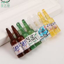 Creative Design 40mm Plastic Wine Bottles Pendant Yellow/Green/Cream White/Brown Colors DIY Fashion Necklace Bracelet Finding