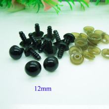 12mm Black Safety Eyes / Plastic Doll eyes Handmade Accessories For Bear Doll Animal Puppet Making - 50 pairs/lot