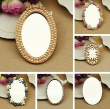 Min.$15 (Mixed Order) Alloy Pearl Mirror Flower Mirror Collection charms Cell Phone Case DIY Alloy Decoration