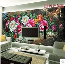 Custom Europe type restoring ancient ways of large murals sitting room porch TV arts background wallpaper canvas rose restaurant