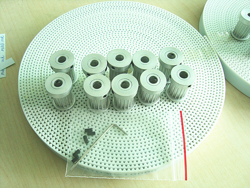 20 teeth HTD3M pulley 6pcs and PU 15mm width HTD3M belt*10m set for 3d printer<br>