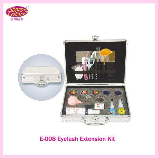 2017 New Double-Layer Beauty Grafting Salon Makeup Tools False Extension Eyelash Glue Brush Kit Set Eyelashes Women Beauty Tool<br>