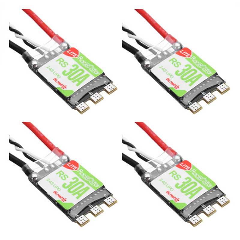 4PCS Racerstar RS30A Lite 30A Blheli_S BB1 2-4S Brushless ESC Support Oneshot42 For RC FPV Racing Drone Multirotor Part DIY Accs(China)