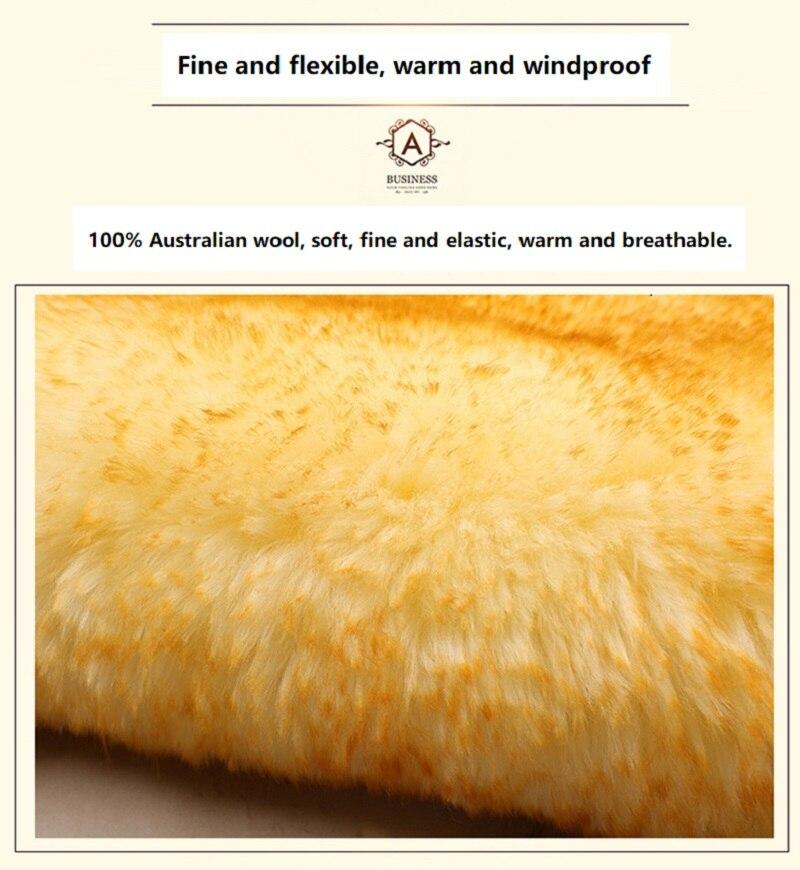 JXLCLYL 100% Australian Pure Natural Fur Seat Cover 5 Seats Whole Vehicle Seat Cover Sheepskin Winter Car Cushion