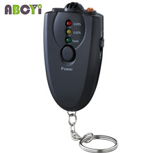 Cheap Mini 3 LED Breath Alcohol Tester Keychain Breathalyzer Alkohol Tester Gadget Alcoholimetro with Flashlight and Retail Box