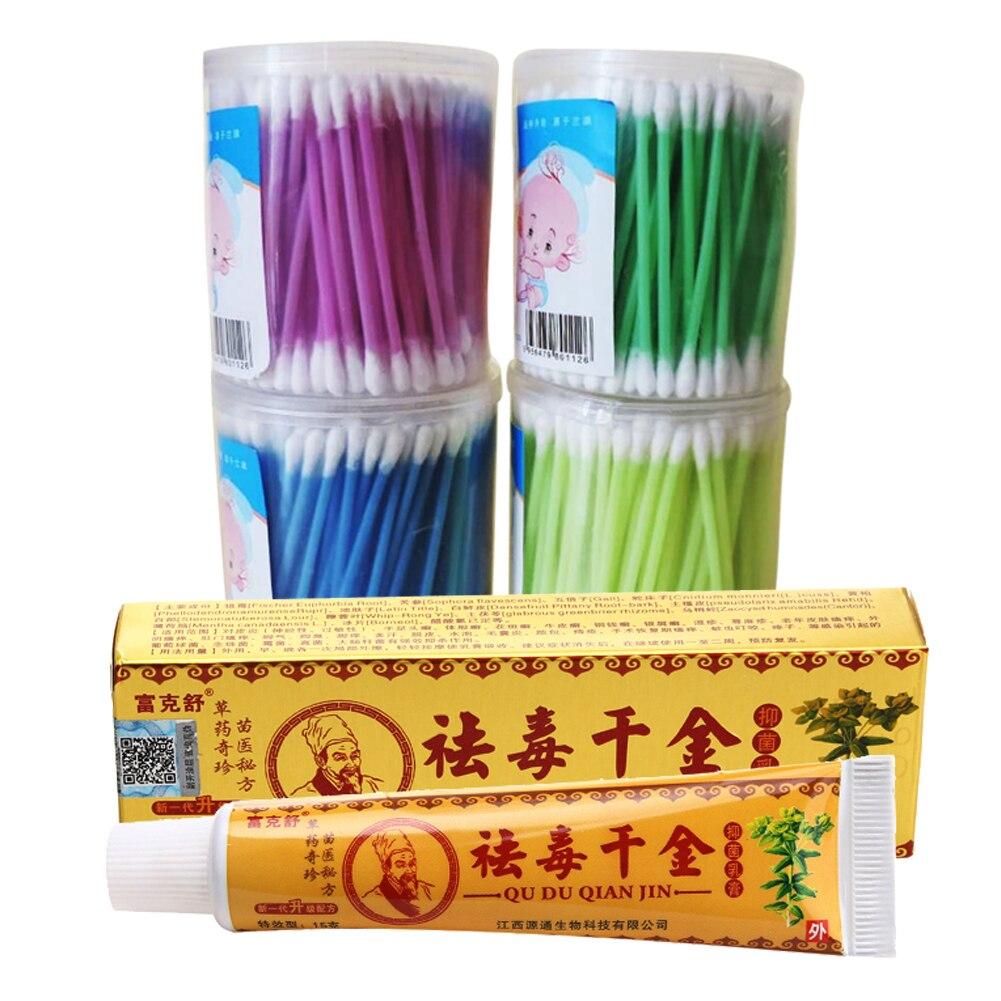15g Chinese Herbal Medicine Suitable Dermatitis Psoriasis Eczema Treatment Cream Eczema Dermatitis Psoriasis Ointment with Swab<br><br>Aliexpress