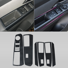 DWCX Car Interior Door Window Switch Carbon Fiber Molding Sticker Decal Kit for Chevrolet/Holden Cruze 2009 - 2012 2013 2014