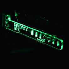 Hot Green GeForce GTX LED Luminous Computer Office Main Box HIS Graphics Cards Custom Support Frame Display Card Components Jack