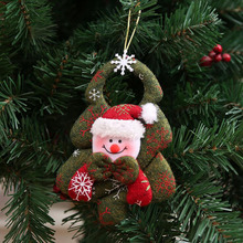 Hot New Creative Snowman Santa Claus Elk Tree Showcase Shop House Door Pendant Christmas Decoration Kids Novelty Toys Gifts(China)